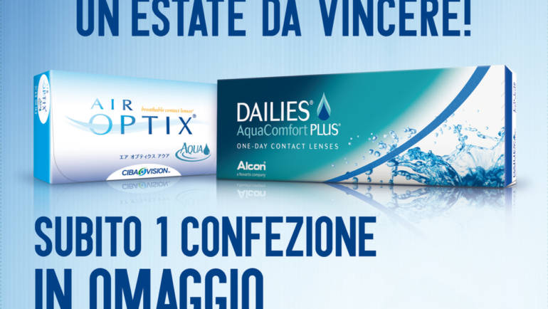 PROMO Lenti a contatto DAILIES AquaComfort PLUS e AIR OPTIX AQUA