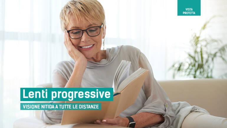 Lenti progressive, visione nitida in direzione del tuo sguardo